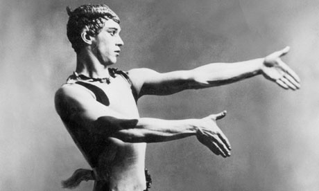 Nijinsky in Afternoon of a Faun, c1912.