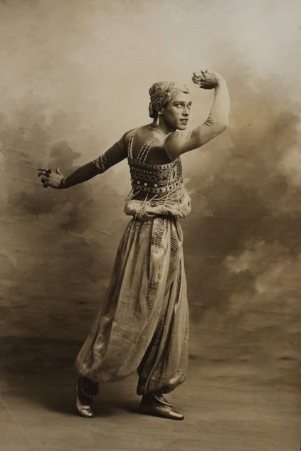 Nijinsky as the Golden Slave from Scheherazade, 1910